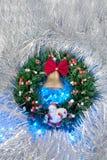 Grinalda do Natal Imagens de Stock