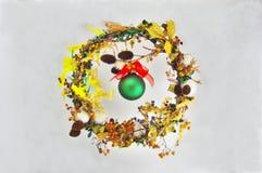 Grinalda do Natal Imagem de Stock Royalty Free