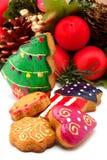 Grinalda do Natal. Bolinhos Assorted imagens de stock