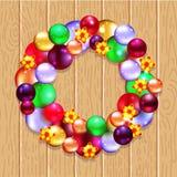 Grinalda do Natal com abeto e azevinho Imagens de Stock