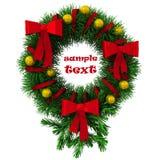 Grinalda do Natal com bolas e curvas Imagens de Stock