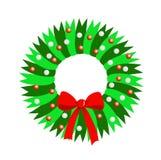 Grinalda do Natal de fitas verdes ilustração royalty free