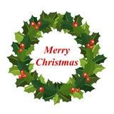 Grinalda do Natal do azevinho Fotos de Stock