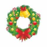 Grinalda do Natal Ilustração do vetor Imagem de Stock
