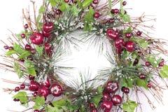 Grinalda do Natal no branco Imagem de Stock Royalty Free