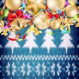 Grinalda do Natal no vermelho Eps 10 Fotos de Stock Royalty Free