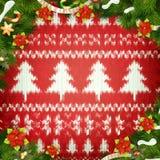 Grinalda do Natal no vermelho Eps 10 Imagem de Stock Royalty Free