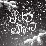 Grinalda do Natal Projeto do vetor da rotulação da caligrafia do Natal Fotografia de Stock Royalty Free