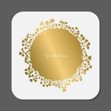 Grinalda do ouro ilustração royalty free