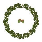 Grinalda do vetor das folhas do carvalho ilustração stock
