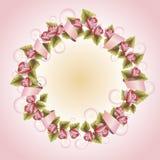 Grinalda do vintage com flores uma ilustração para Fotos de Stock Royalty Free