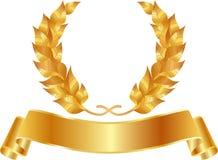Grinalda dourada Imagens de Stock Royalty Free