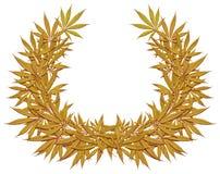 Grinalda dourada do cannabis Imagens de Stock
