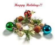 Grinalda e decorações do Natal imagens de stock