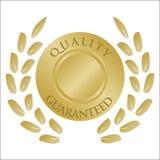 Grinalda e medalhão do louro do ouro Imagens de Stock Royalty Free