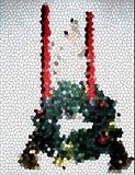 Grinalda e velas do vidro manchado Fotografia de Stock Royalty Free