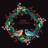 Grinalda elegante do Natal ilustração stock