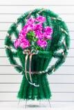 Grinalda fúnebre luxuosa fotografia de stock royalty free
