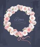 Grinalda feita das rosas Imagens de Stock