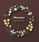 Grinalda feita de flores do prado Imagem de Stock