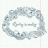 Grinalda floral Foto de Stock Royalty Free