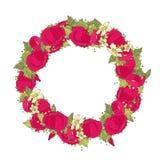 Grinalda floral Fotografia de Stock Royalty Free