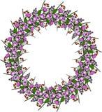 Grinalda floral com flor da maçã ilustração do vetor