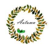 Grinalda floral da aquarela Imagens de Stock