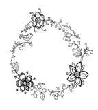 Grinalda floral da garatuja ilustração stock