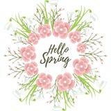 Grinalda floral do vetor da mola Imagem de Stock