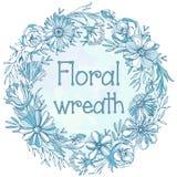 Grinalda floral lindo Fotos de Stock Royalty Free