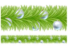 Grinalda Garland Design das quinquilharias da árvore de Natal Fotos de Stock