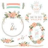 Grinalda rústica da flor do casamento ilustração stock