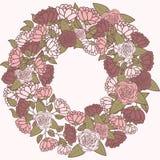 Grinalda romântica da flor, grinalda das rosas ilustração do vetor