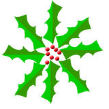 Grinalda santamente Digital do Natal Imagens de Stock