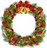 Grinalda tradicional do Natal ilustração stock