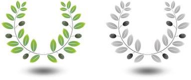 Grinalda verde-oliva ilustração royalty free