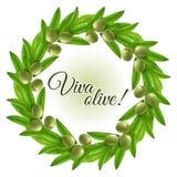 Grinalda verde-oliva Fotos de Stock Royalty Free