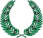Grinalda verde-oliva - símbolo da vitória e da realização Fotos de Stock Royalty Free