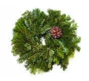 Grinalda verde tradicional do Natal Fotografia de Stock Royalty Free