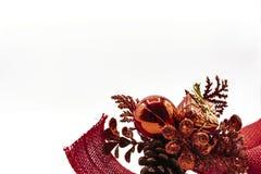 Grinalda vermelha e brilhante fotografia de stock royalty free