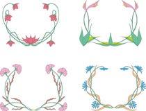 Grinaldas da flor Foto de Stock