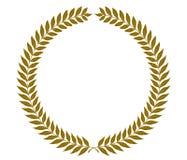 Grinaldas douradas do louro - ilustração do vetor Imagens de Stock