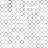 Grinaldas e quadros do círculo com lugar para seu texto Imagem de Stock