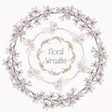 Grinaldas florais coloridas do vetor Elementos do projeto da flor Imagens de Stock
