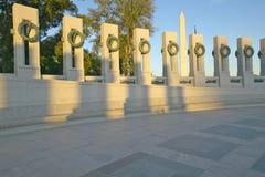 Grinaldas no memorial da segunda guerra mundial dos E S Memorial da segunda guerra mundial, Washington D C Imagens de Stock
