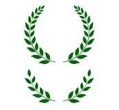 Grinaldas verdes do louro - ilustração do vetor Fotos de Stock Royalty Free
