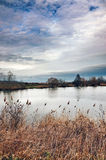 Grinava jeziorny chmurny niebo Zdjęcie Royalty Free