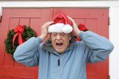 Grinch del día de fiesta de la Navidad Fotografía de archivo