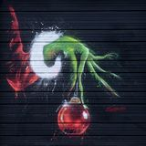 The Grinch Mural by Ponchavelli, The Drawing Board, Richardson, Texas royalty free stock images